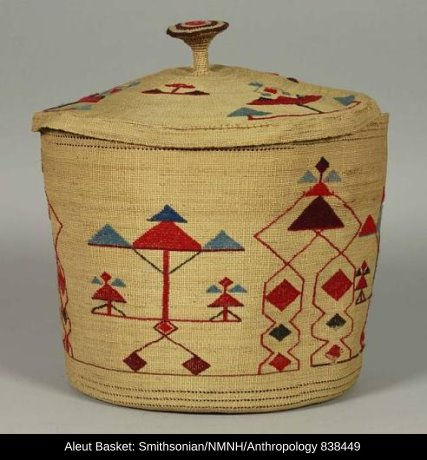 Aleut Basket with cover