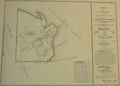 P.E. Harris cannery, survey plat, 1926