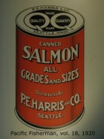 PE Harris salmon can