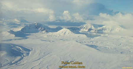 Fisher Caldera in winter, Unimak Island, Alaska