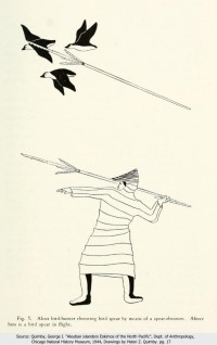 Aleut Hunter with bird spear