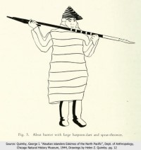 Aleut Hunter with Throwing Board and Dart