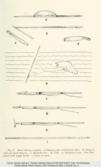 Aleut Hunting Weapons